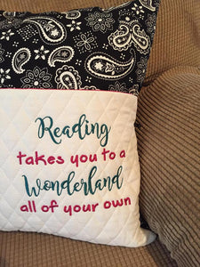 Reading Wonderland Saying
