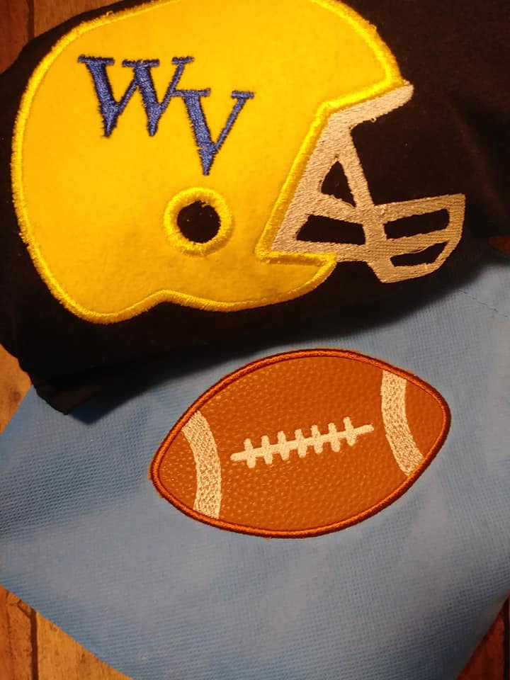 Football Applique Set