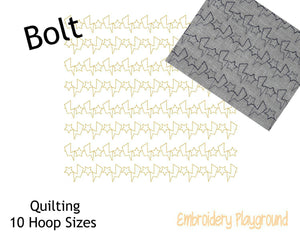 Lightening Bolt Quilting