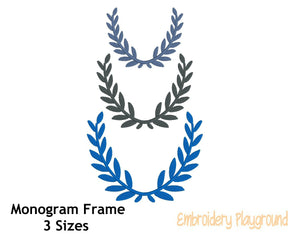 Leaf Wreath Monogram Frame