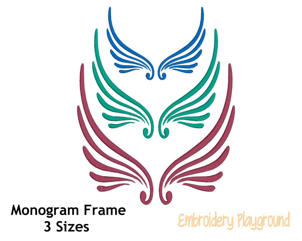 Wing Monogram Frame