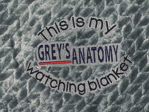 Grey's Anatomy Watching Blanket Saying