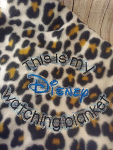Disney Watching Blanket Saying