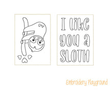 Load image into Gallery viewer, I like you a Sloth Mini Coloring Page