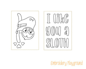 I like you a Sloth Mini Coloring Page