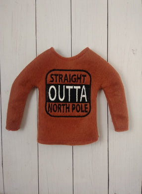 Lil Straight Outta North Pole Top