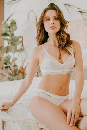Allure White Bra