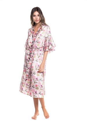 Violet Bloom Robe - Livenza Lingerie
