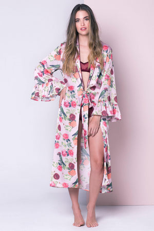 Pink Parrot Robe - Livenza Lingerie