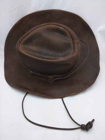 SOLD!!! Henschel Leather OutBack Hat. MEDIUM. Made in USA. Old West H1H.