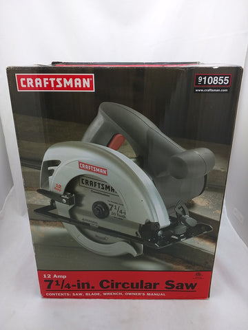 NEW! Craftsman Circular Saw 12 Amp 7-1/4-inch Electric Power Tool Bevel Angle 0-45° with blade