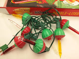 Two sets. Noma Bubble Lite Set of 7 Vintage Special Edition Christmas Lights Nostalgia ok