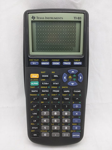 Texas Instruments TI-83 Graphing Calculator - Working, Perfect Screen