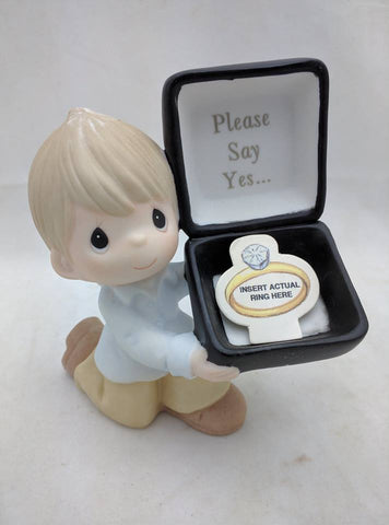 Precious Moments For The One I Love Please Say Yes Figurine 113007 Proposal wedding