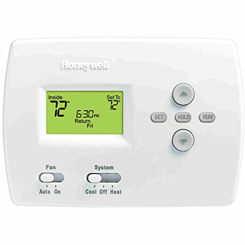 "Honeywell 105841 TH4110D1007 Programmable Thermostat, 3-13/16"" High x 5-3/8"" Wide x 1-1/4"" Deep, Premier White"