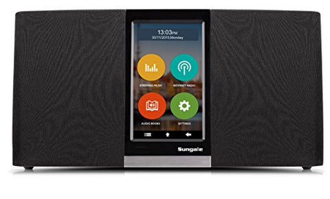 Sungale KWS433 WiFi Internet Radio Wireless Touchscreen Voice Command Audio Streaming Music Audiobook Podcasts