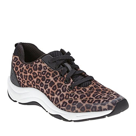 7 Brown Leopard Vionic Women's Action Tourney Lace Up