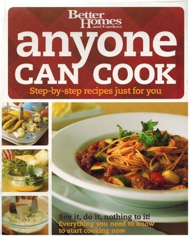 anyone can cook (Step-by-step recipes just for you) [Ring-bound] Tricia Laning