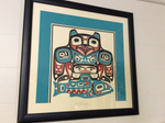 M Beasley Print Signed Native pacific northwest  art 16 x 15 Alaska original