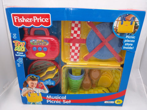 NEW Fisher-Price musical picnic set toy Sound working. Age 2 up.