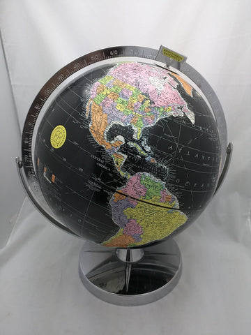 "SOLD! BLACK OCEAN GLOBE Encyclopedia Britannica Vintage School 12"" USSR"