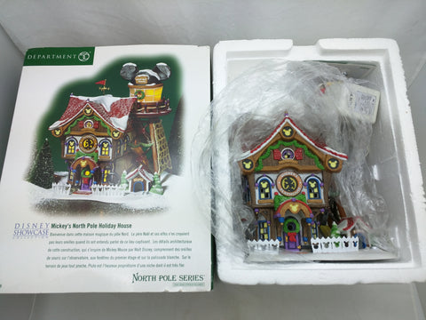 AS-IS Department 56 Mickey's North Pole Holiday House Disney Broken Weathervane Christmas