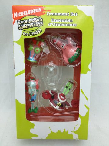 Missing SpongeBob Squarepants Ornaments Set Four Mini SquarePants Nickelodeon As Is