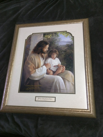 For Lo I Am With You Always Signed Greg Olsen Print Framed 27 X 23 Forever And Ever Silver Visions Of Faith