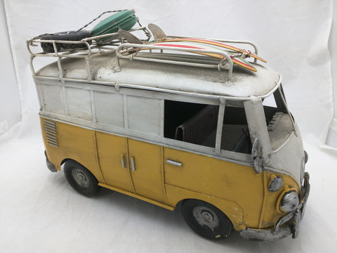 Volkswagen Bus Metal Sculpture Tin