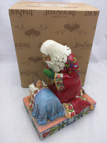 Jim Shore Real Meaning Of Christmas St. Nick Baby Jesus Enesco