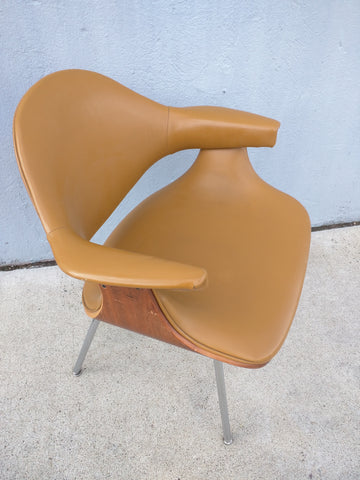Chair Mid-Century Plywood Eames Era Brown