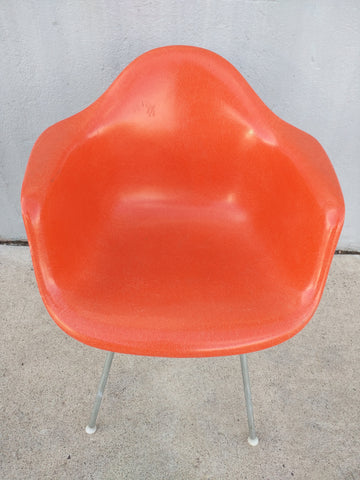 Herman Miller Chair Fiberglass Orange Mid Century
