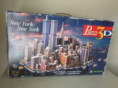 Twin Towers New York Puzz3D Wrebbit Puzzle 3 Dimensional