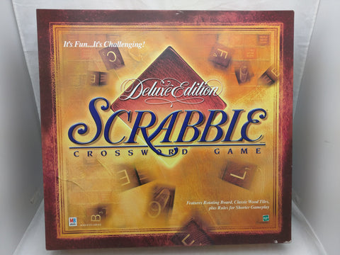 Scrabble Deluxe Edition Game BoardGame Wood Tiles