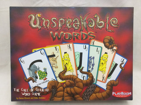 Unspeakable Words Card Game Cthulhu Playroom