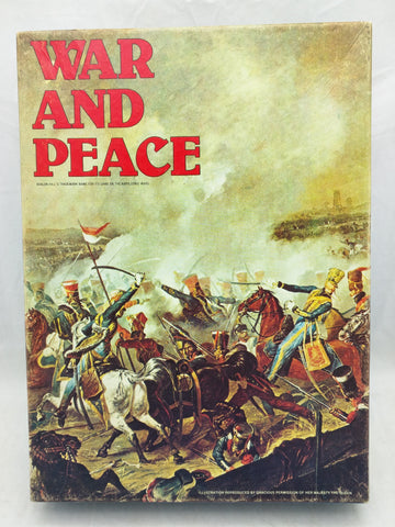 Avalon Hill War and Peace Game Napoleonic Wars 827 Bookcase