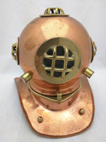 Diving Helmet Miniature Copper Brass Deep Sea