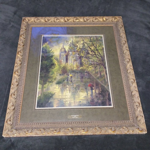Eternal Reflections Sandra Rast Signed Numbered Print LDS Temple Salt Lake
