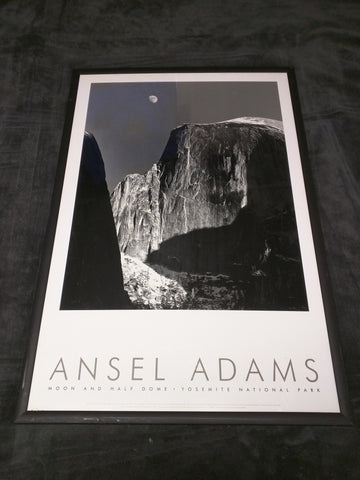 Ansel Adams Moon and Half Dome Print Yosemite national Park  Authorized Edition