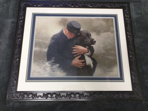 John Weiss Signed Numbered Print Soldier Dog Lab