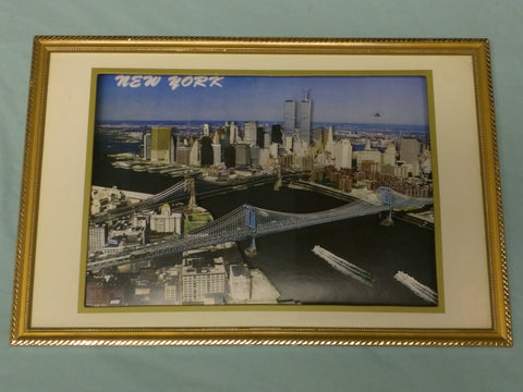 3D Twin Towers New York Print Art City Cardboard Cutout