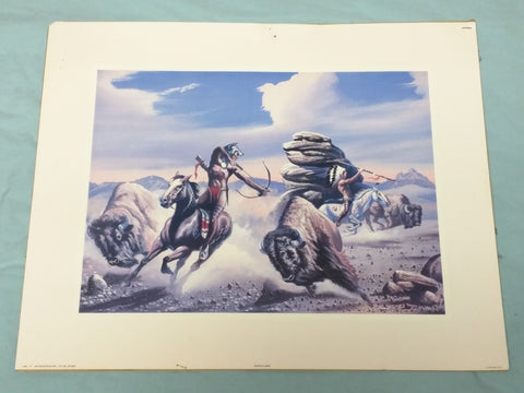 Buffalo Hunt Print only 1992 art resources