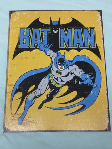 Batman tin sign reproduction desperate enterprises metal Bat Man