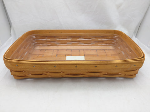 1999 14.5x9.5x2.5 Tray Protector Medium Longaberger Basket Woven 13x9 43923