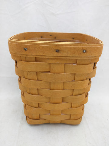 1998 5x5x6 Protector Longaberger Basket Woven Small