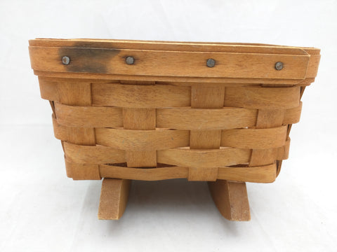 1993 7x5x4 Mini Cradle Longaberger Basket Woven Small