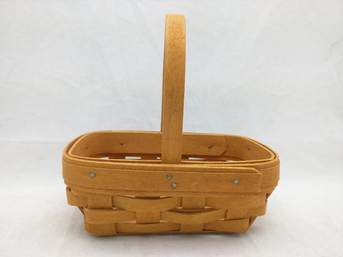 1999 6x4x2 Mini Easter Fixed Handle Longaberger Basket Woven