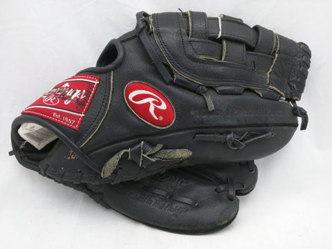 RBG22NC 12 1/4 inch Rawlings Black Baseball Glove Mitt