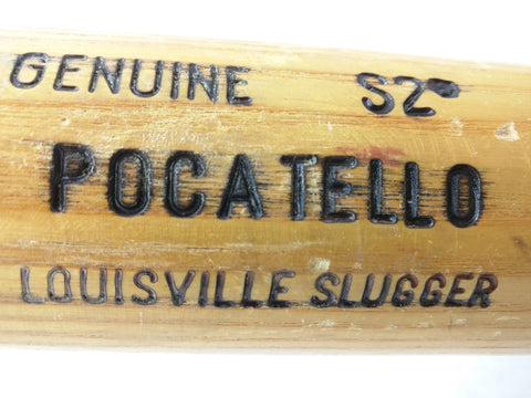 """ POCATELLO "" S2 Labeled AS-IS cracked Wood Wooden Baseball Bat 125 Louisville Slugger"