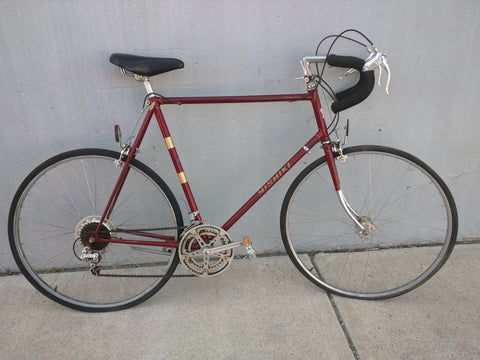 Nishiki Olympic 12 Road Bike Bicycle Vintage SunTour Maroon 12 speed